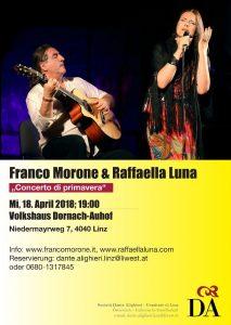 FRANCO MORONE & RAFFAELLA LUNA - Concerto di primavera @ Volkshaus Dornach - Auhof | Linz | Oberösterreich | Österreich