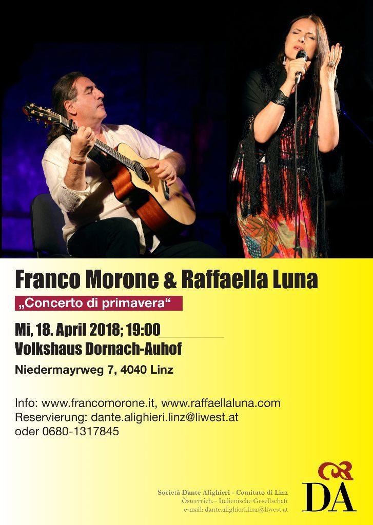 Franco Morone und Raffaella Luna_Plakat A3