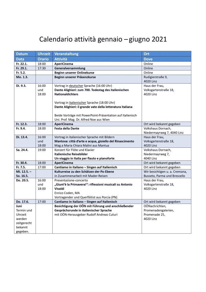 Calendario attività - primavera 2021_2