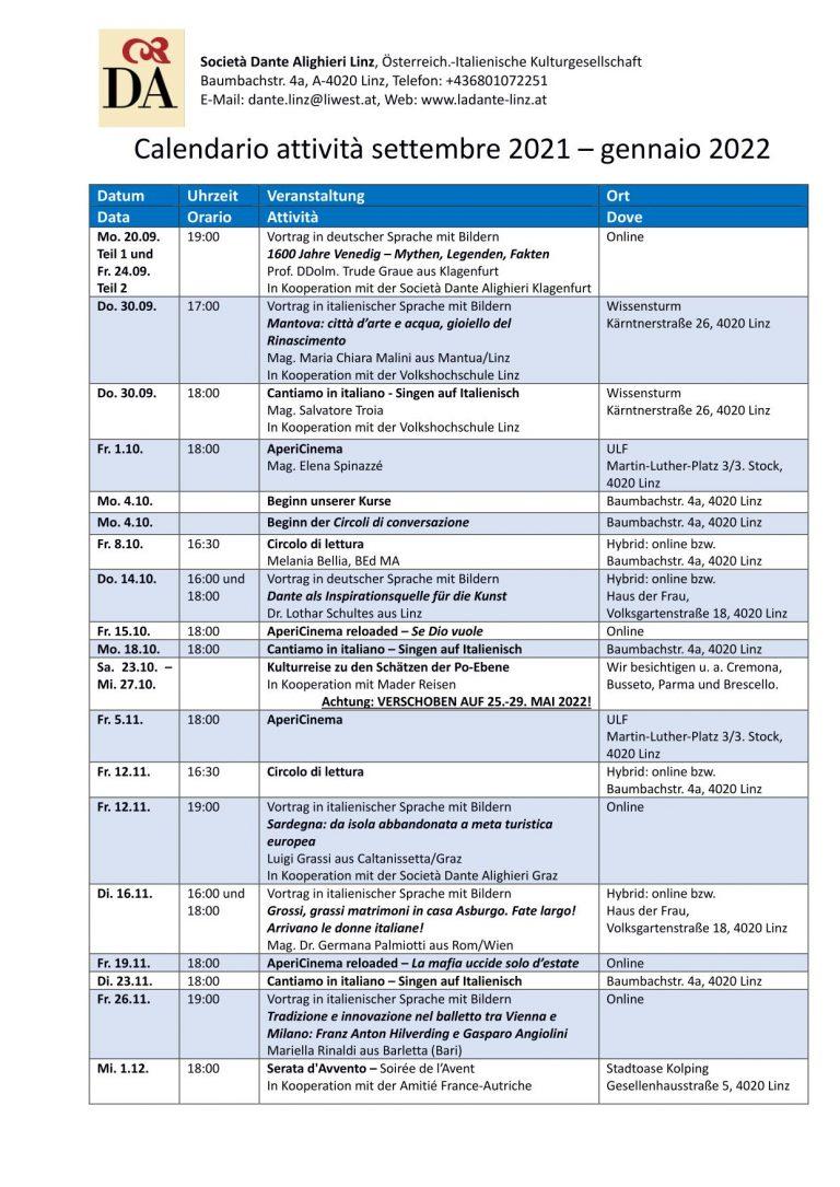Calendario attività autunno 2021_NEU_30.09.2021